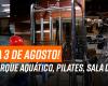 Reabertura Parque Aquático, Fisiofit, Pilates e Tatame